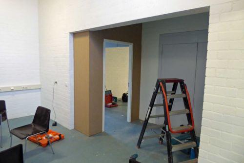 Nieuwe deur naar  grote zaal